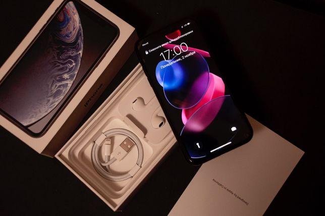 iPhone XR 128gb черный идеал полный комплект.