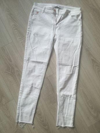 Spodnie jeansy białe, rozmiar 38