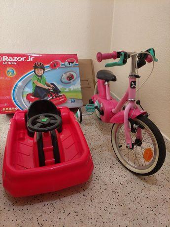 Carro Eléctrico e Bicicleta Menina
