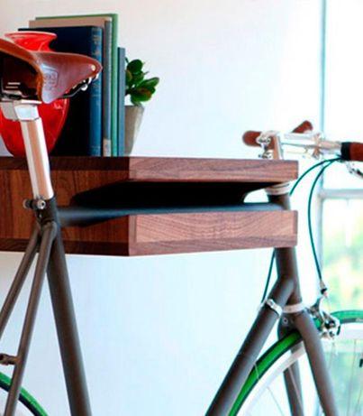Suporte para bicicleta em madeira