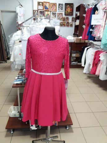 Piękna sukieneczka malinowa 146, 152, 158