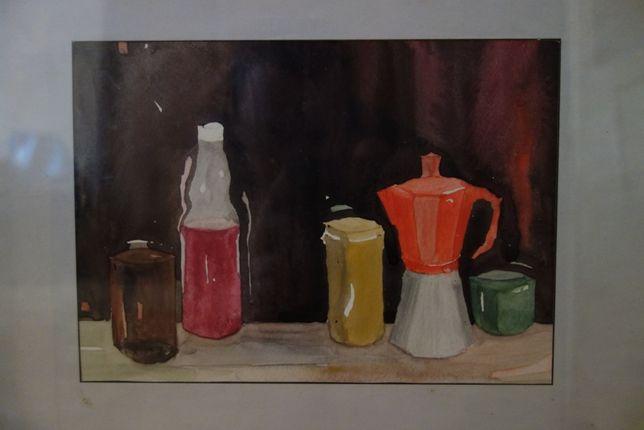 Obraz 30 x 25 cm, akwarela - autor Ryszard Miłek - okazja !!
