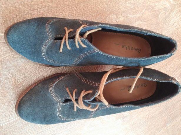 Кожаные замша туфли