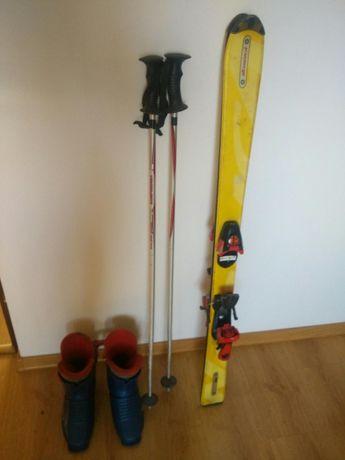 Komplet narciarski dziecięcy narty 120,buty rozmiar 33