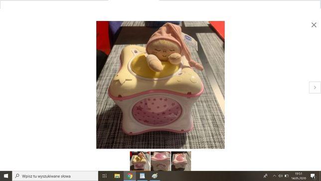 Chicco Tęczowa kostka różowa projektor pozytywka lampka wysyłam