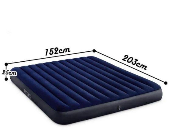 Надувной двуспальный велюр матрас Intex 64759,152*203*25 см