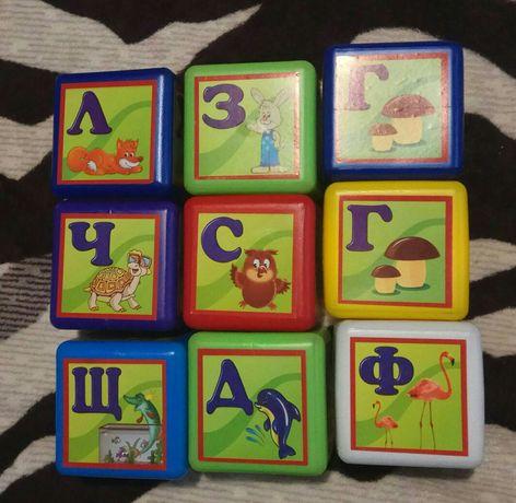 Кубики Абетка 9 шт