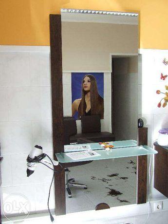 Bancada de cabeleireiro com móvel de apoio / Estética / Cabeleireiros