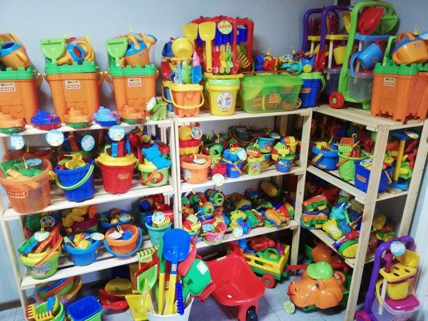 Zabawki ogrodowe do ogrodu dla dzieci PIASKOWNICA zjeżdżalnia domek