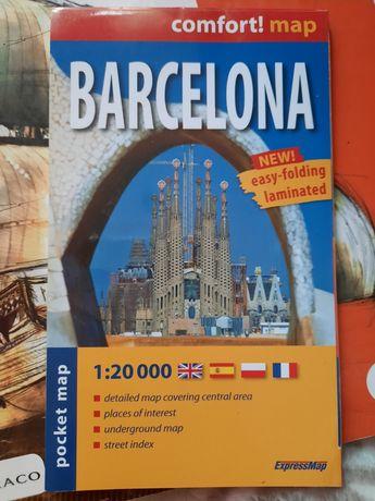 Mapa kieszonkowa Barcelony