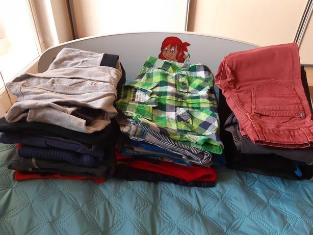 Sprzedam 25 rzeczy, rozmiar 110, chłopiec, używane, stan dobry.