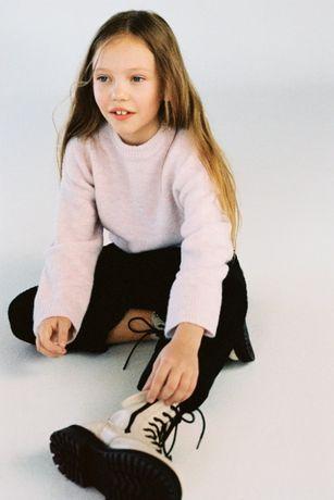 ZARA 2020 sweter pudrowy róż 140