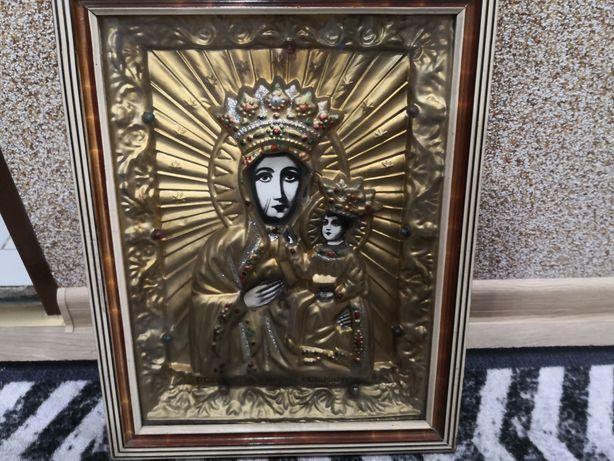 Obraz matki Boskiej podswietlany prl