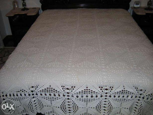 Colcha de algodão em croché, feita manual
