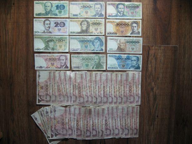 Zestaw 64 sztuk różnych banknotów z czasów PRL oryginalne