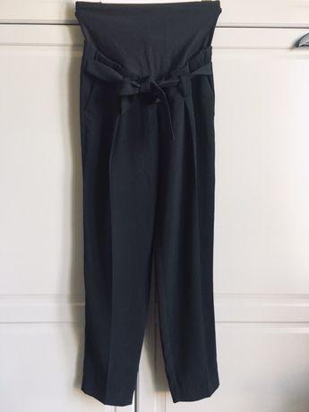 Czarne nowe eleganckie spodnie ciążowe H&m mama 34