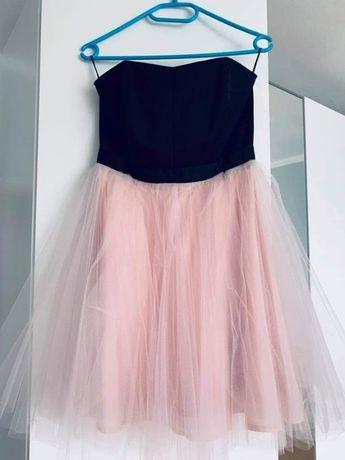 Sukienka różowa bombka S
