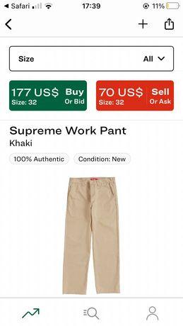 Spodnie supreme work pant khaki
