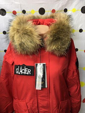 Куртка пуховик, парка, пальто бренд- Италия,с натуральным мехом. Люкс