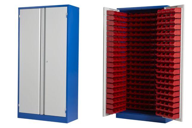 Szafa 200x100x45 cm z 340 pojemnikami 75x105x170 mm metalowa magazyn