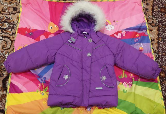 Зимняя куртка Lenne на девочку, размер 98
