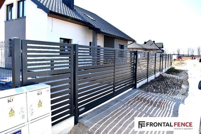 Ogrodzenia metalowe, poziome, nowoczesne, palisadowe. Montaż.