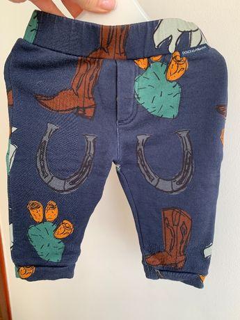 Oryginalne spodnie niemowlece Dolce & Gabbana 6-9 miesiecy