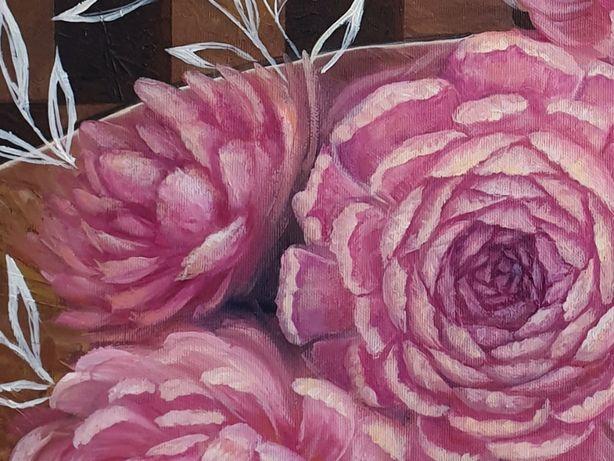Ekskluzywne malarstwo wykonane w całości ręcznie,  duży obraz olejny