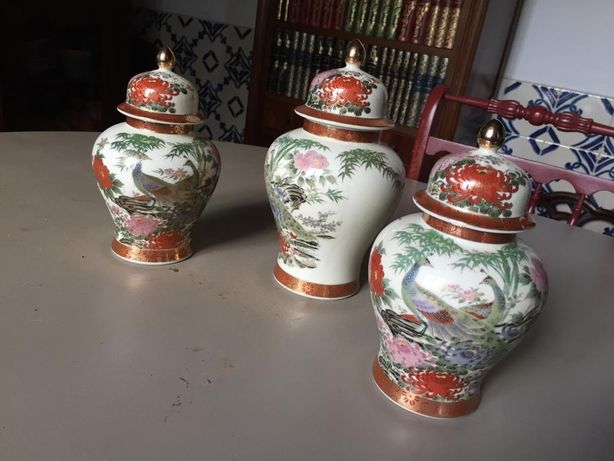 Trio de potes japoneses