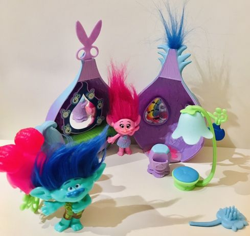 Trolle domek studio fryzur figurki Poppy i Mruk super!