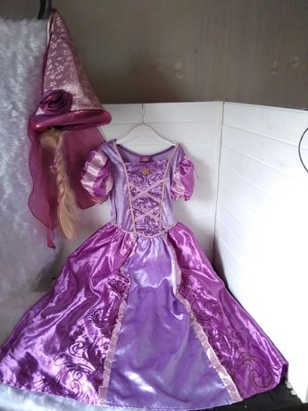 Маскарадное карнавальное платье принцессы Рапунцель на 7-8 лет Дисней
