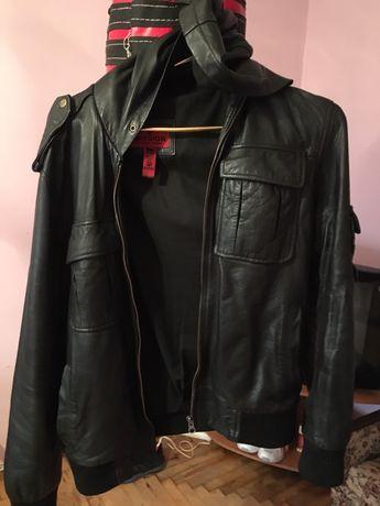 Куртка кожаная состояние 4из5