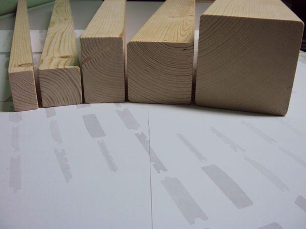 Drewno konstrukcyjne klejone DUO 160x200mm klasa C24 jakość NSI świerk