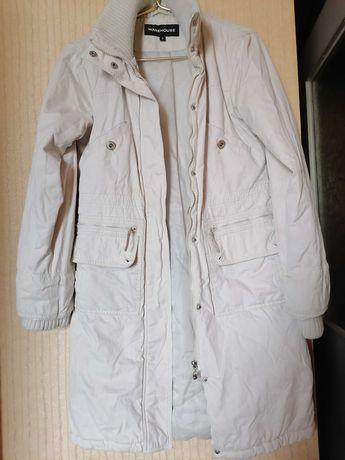 "Пальто белое парка куртка warehouse ""пуховик"" воздуховик р.44, р.46"