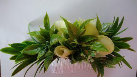 Grzebyk ozdoba do włosów ślubny stroik