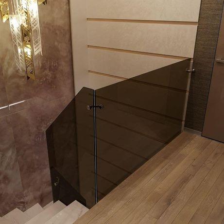 Перила огородження поручня скляні сходи