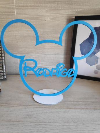 Moldura Mickey / Minnie personalizado com nome
