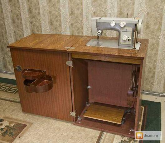 Швейная машинка Чайка 3 с тумбой в хорошем состоянии