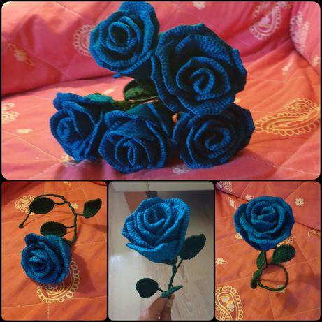 Róże na szydełku