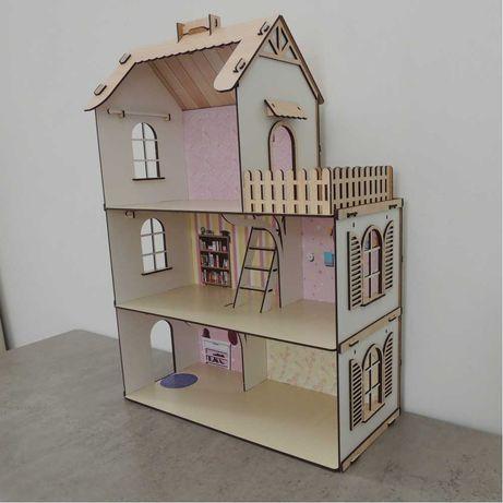 Дерев'яний будинок для ляльок великий