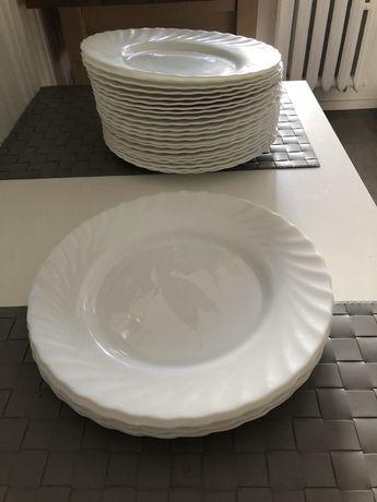 Zestawy białe talerze płaskie 24,5 cm ARCOROC, Trianon - 6 szt.