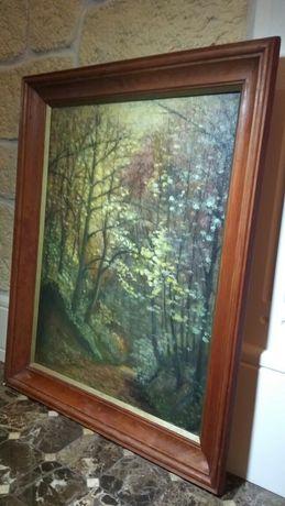 """Obraz olejny na płótnie w drewnianej ramie """"Wąwóz k/ Sandomierza"""""""