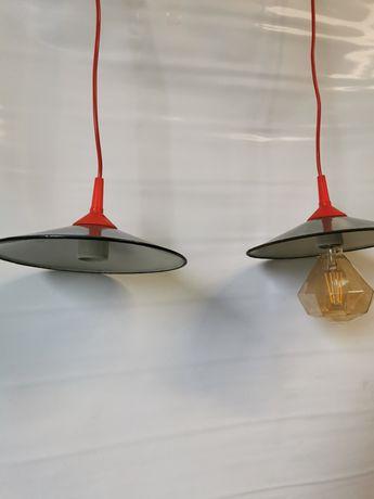 Stare lampy emaliowane bauhaus vintage