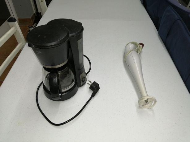 Máquina café e varinha mágica