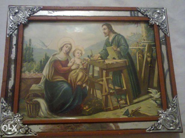 Quadro de José e Maria