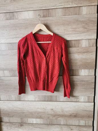 Sweterek z dziurkami wełna Kaszmir