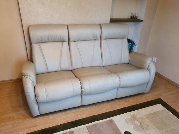 Kanapa i fotel skórzany stan idealny jak nowe