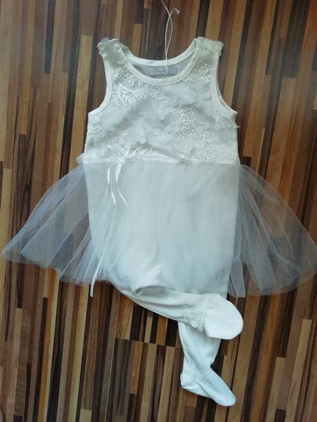 NOWE ubranko, spioszki z tiulem na chrzest, kolor ecru r. 68 MINETTI