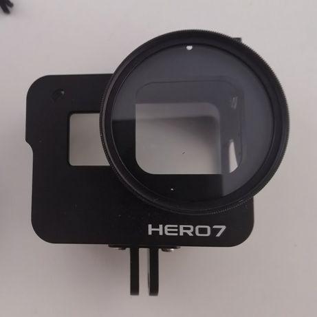 Ramka obudowa aluminiowa + filtr UV 52mm do GoPro Hero 5, 6, 7