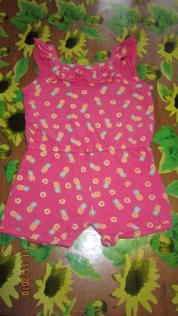 Комбинезон, туника, рубашка, костюм, платья для девочки 9-12 мес